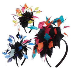 Colorful Feather Burst Fascinator Headband - SetarTrading Hats