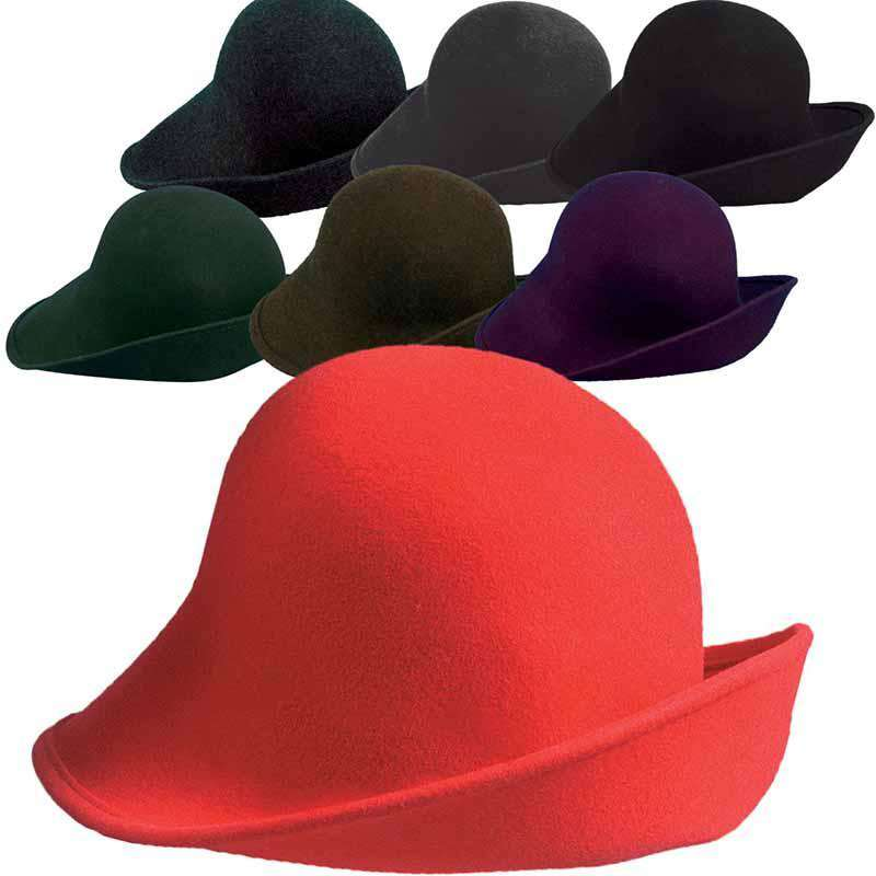 Wool Felt Hat with Shapeable Brim - Scala Hats