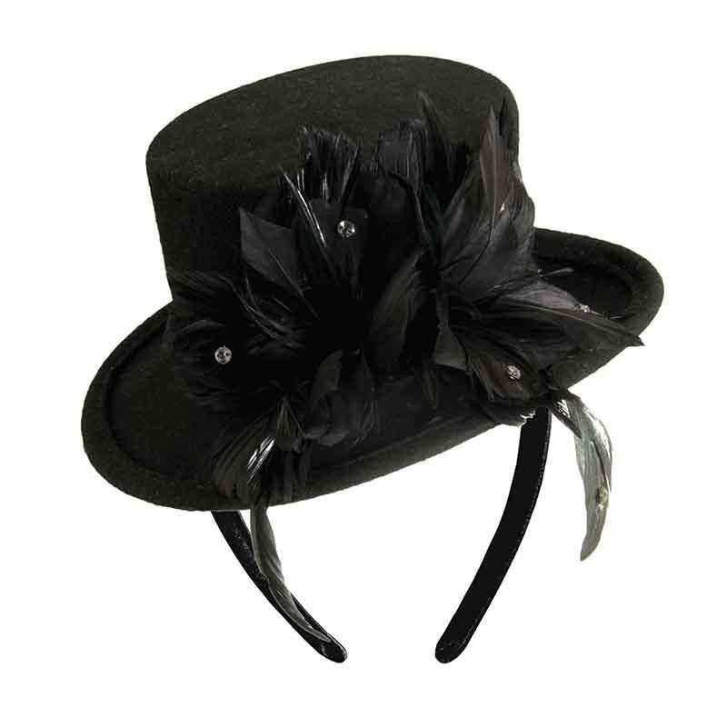 Mini Top Hat Hatanator with Feather Accent - Scala - SetarTrading Hats