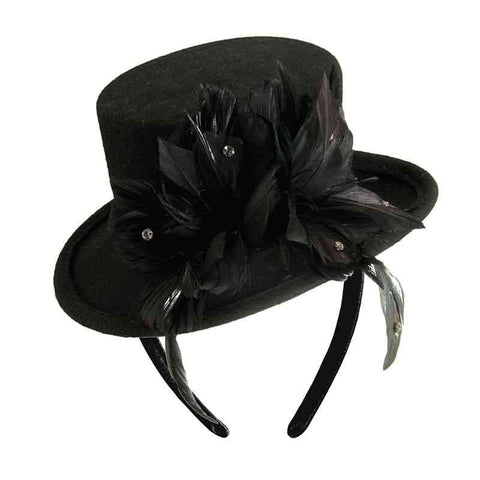 Mini Top Hat Hatanator with Feather Accent - Scala
