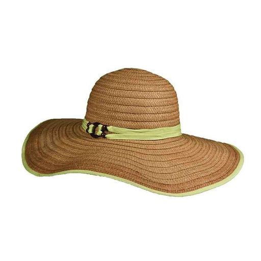 Ribbon Bound Straw Floppy Hat - Tropical Trends - SetarTrading Hats