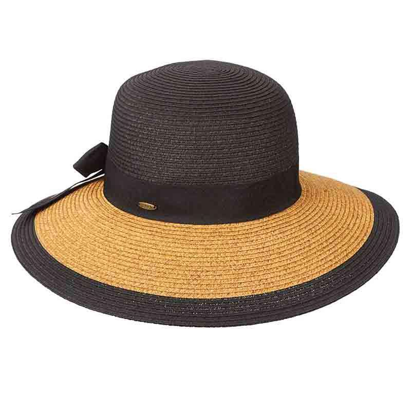 Two Tone Big Brim Summer Hat by Scala
