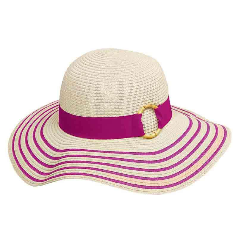 d3140415342 Striped Brim Summer Floppy Hat - Tropical Trends