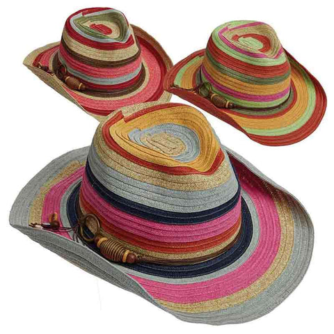 Colorful Striped Cowboy Hat - Tropical Trends