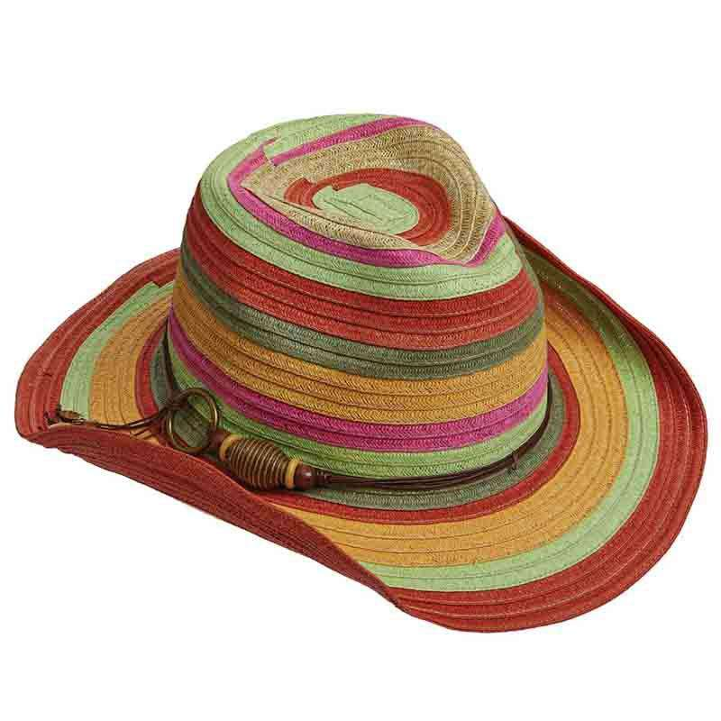 Colorful Striped Cowboy Hat - Tropical Trends - SetarTrading Hats