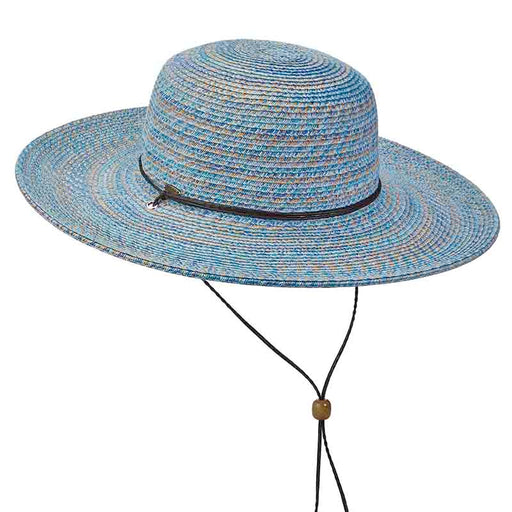 6ddcdceb Multi Color Summer Floppy Hat with Chin Strap by Scala Collezione