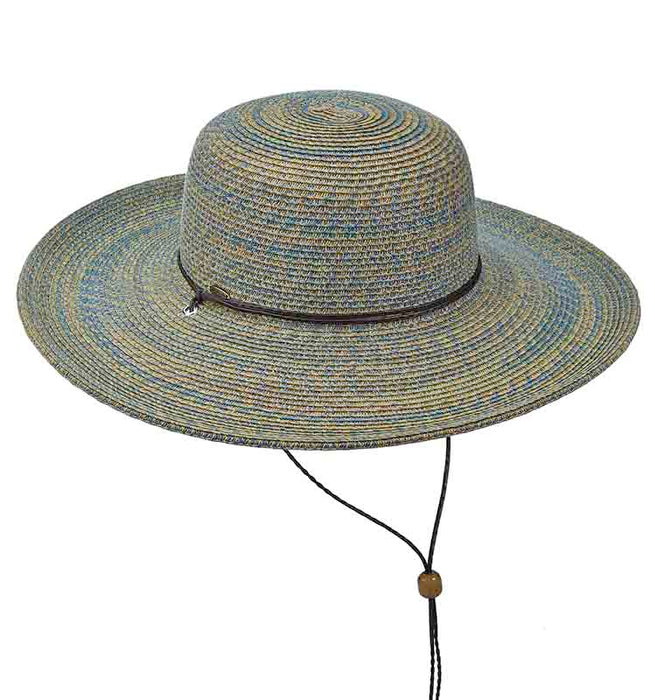 Multi Color Summer Floppy Hat with Chin Strap - Scala Collezione