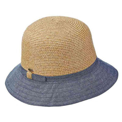 Cotton Brim Straw Bucket Hat - Scala