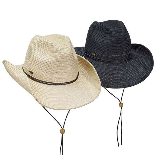 Polybraid Shapeable Brim Western Hat - Scala Hats