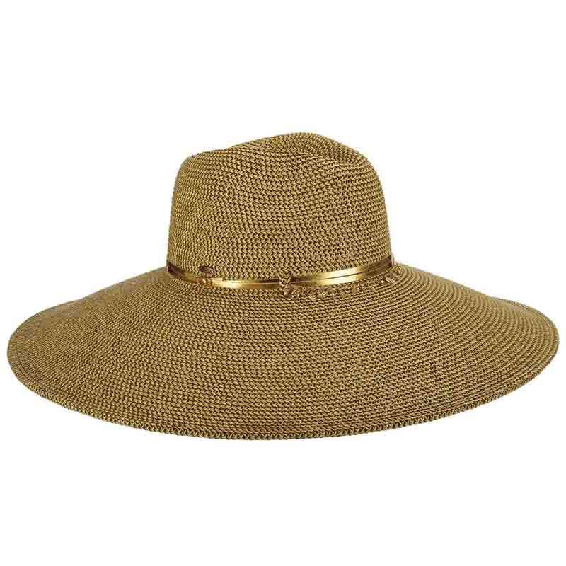 Extra Large Brim Summer Safari Hat with Metallic Accent - SetarTrading Hats