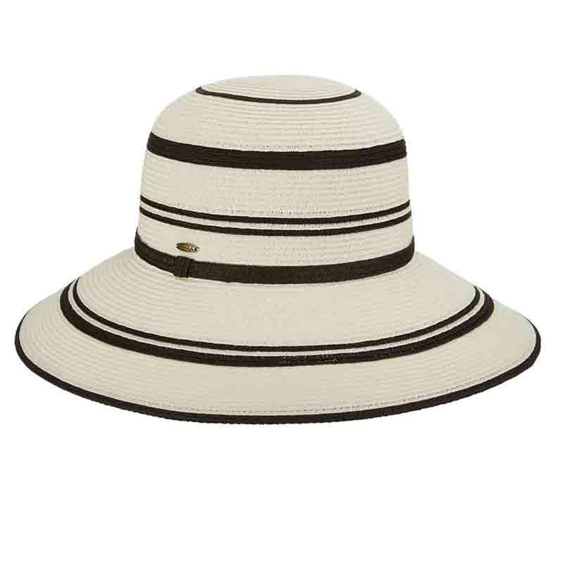 Black and White Big Brim Sun Hat by Scala - Excellent Sun Protection 8ab81601072d