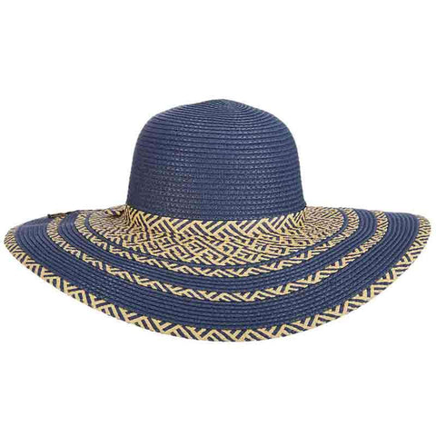 Criss-Cross Woven Beach Hat - Tropical Trends