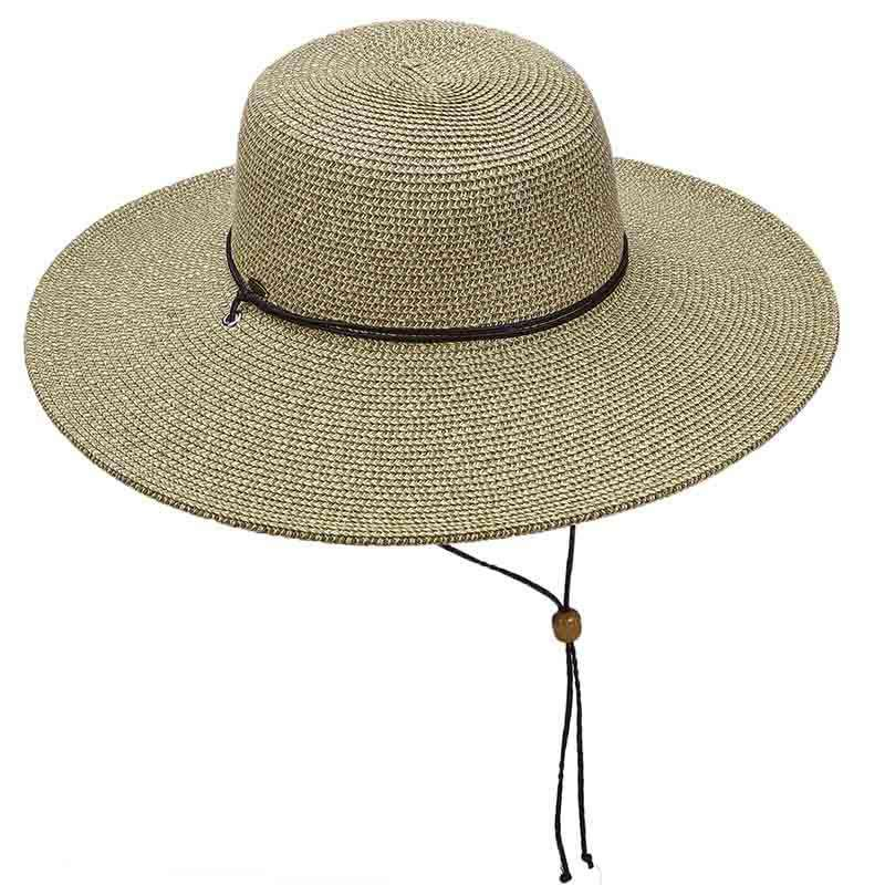 Tweed Summer Floppy Hat with Chin Strap by Scala
