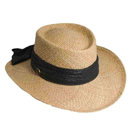 Organic Raffia Gambler for Women - Scala Hats