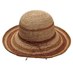 Organic Raffia Up Turned Brim Hat by Scala