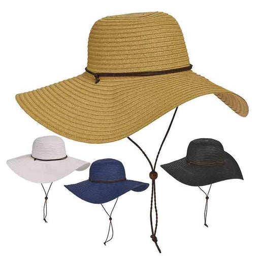 Tropical Trends Toyo Floppy Hat with Chin Cord