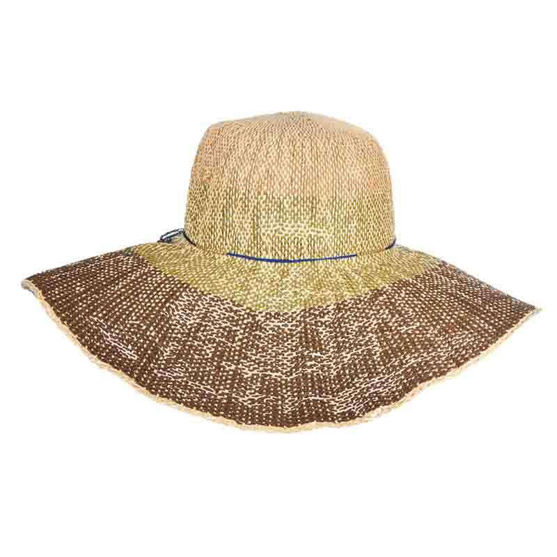 Woven Toyo Ombre Summer Floppy Hat - Scala