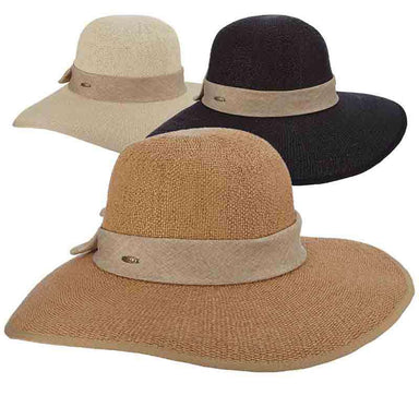 Bangkok Toyo Split Brim Summer Floppy Hat by Scala - SetarTrading Hats