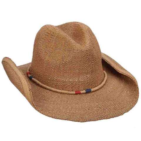 Bangkok Toyo Western Hat with Rolled Band - Tropical Trends