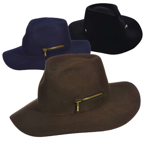 Callanan Wool Felt Safari with Zipper Pocket - SetarTrading Hats