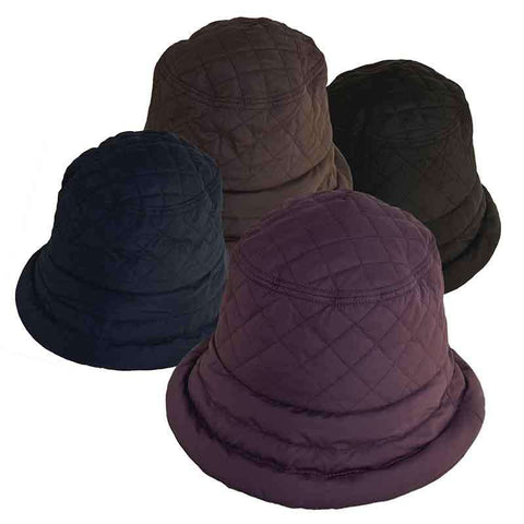 Connecticut Lady Quilted Rain Hat with Fleece Lining - Scala Collezion