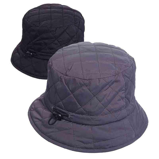 Satin Lined Quilted Rain Hat - Scala Collezion