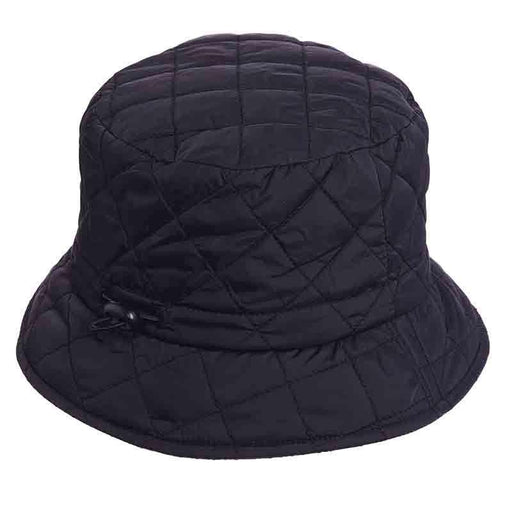 Satin Lined Quilted Rain Hat - Scala Collezione