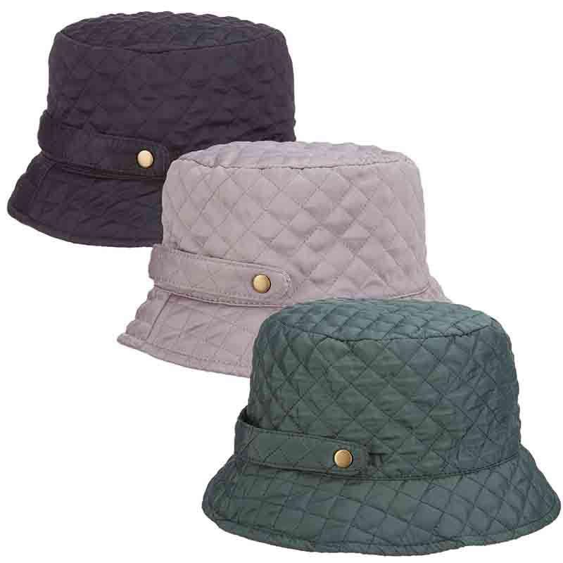 b6443352cd85c Quilted Roll Up Rain Hat for Women by Scala Collezion — SetarTrading Hats