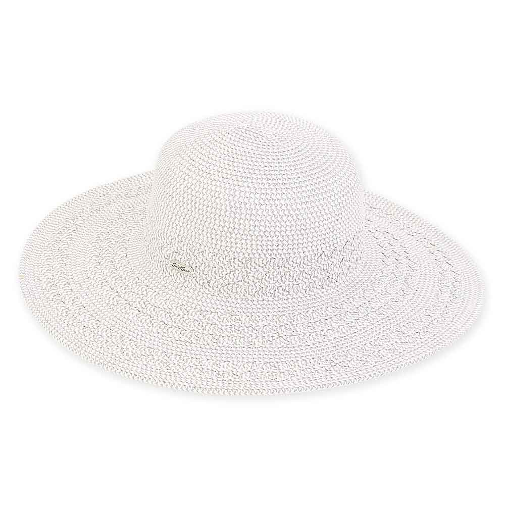 Large Hat Size: Criss Cross Woven Brim Beach Hat - Sun'N'Sand®