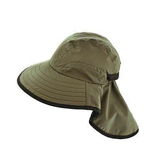 Large bill cap with neck cap for kids and for small head size women olive.jpg