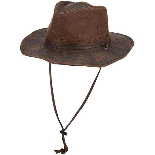 20c5b02f36a62d Distressed Cotton Outback Hats with Chin Cord by DPC - SetarTrading Hats