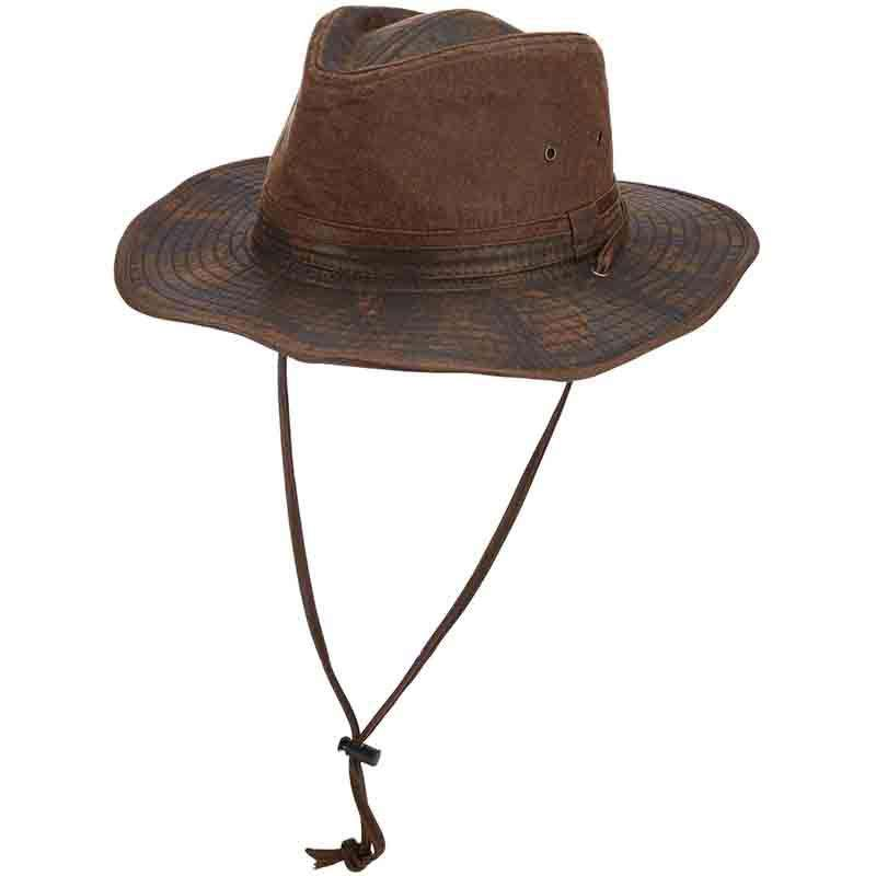 Distressed Cotton Outback Hats with Chin Cord by DPC - SetarTrading Hats