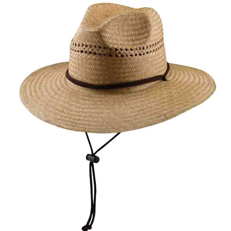 Palm Fiber Lifeguard Hat with Chin Cord by DPC