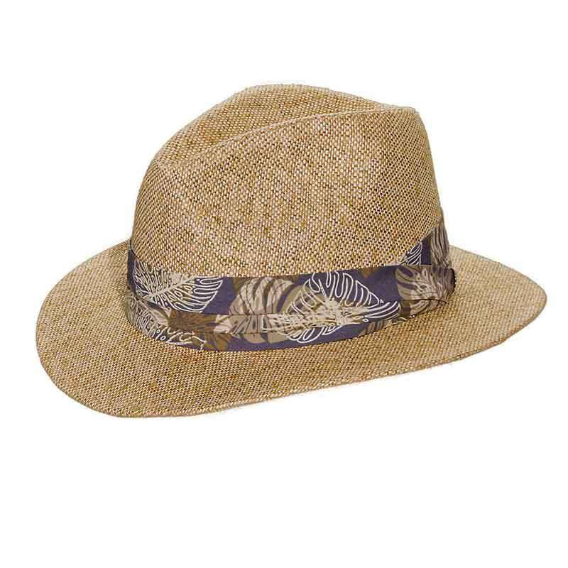 Matte Toyo Safari Hat with Tropical Band - DPC Global - SetarTrading Hats