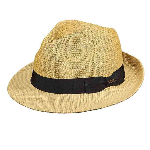 Scala Fedora with Woven Brim