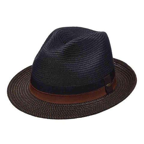Black Fedora with Tweed Brim - Scala