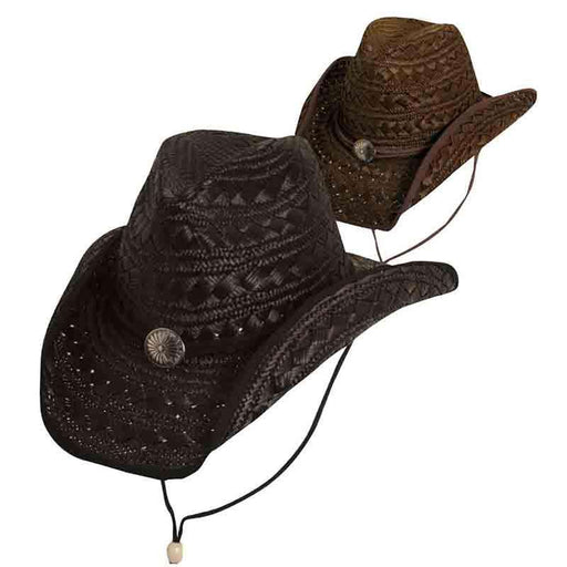 Fancy Weaved Dyed Rush Western Hat - DPC Outdoor - SetarTrading Hats