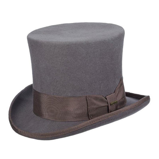 Mad Hatter Structured Wool Felt Top Hat up to 2XL - Scala Hat