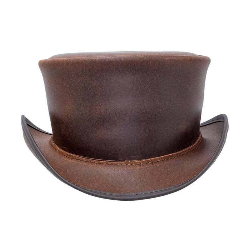 Marlow Leather Steampunk Top Hat with Dragonfly Malfoy Band
