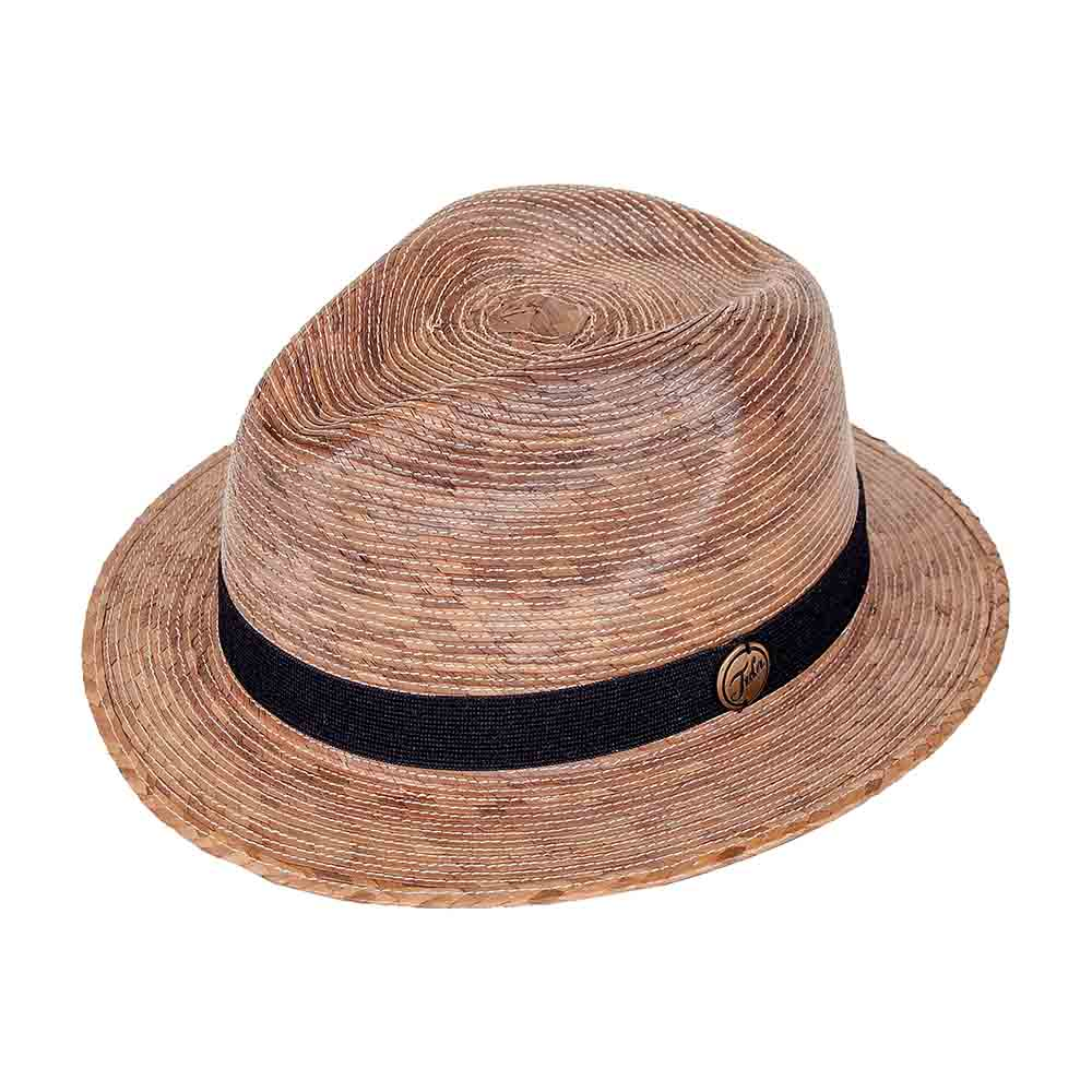 Memphis Burnt Palm Leaf Fedora Hat - Tula Hats