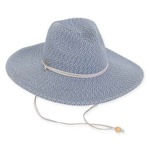 Metallic Straw Safari Hat with Chin Cord - Sun'N'Sand®
