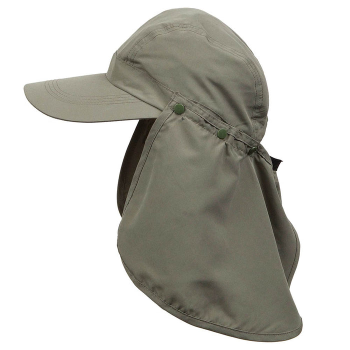 Microfiber Baseball Cap with Removable Neck Cape - Kenny K. Hats