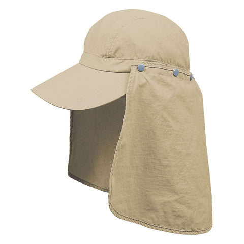 Microfiber Baseball Cap with Neck Cape
