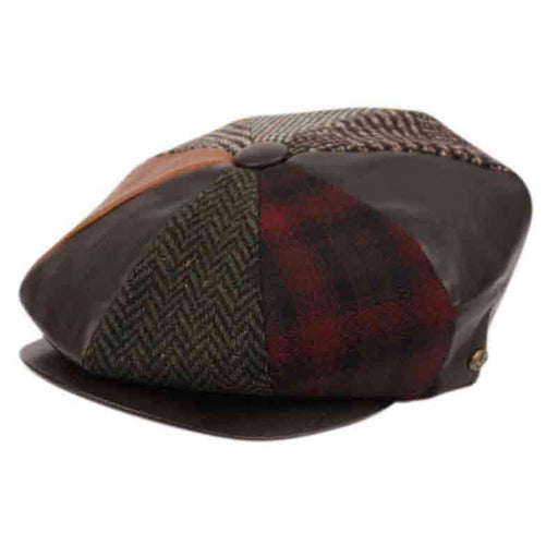 Patchwork Wool Newsboy Cap - Epoch Hats