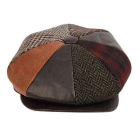 Multi Patch Work Newsboy Cap - Epoch