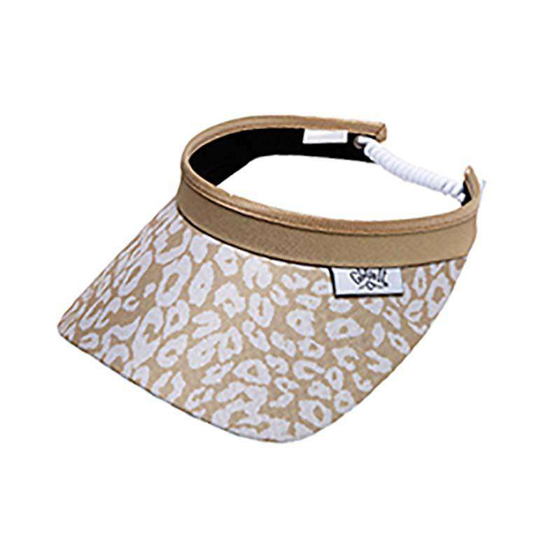 Uptown cheetah Golf Sun Visor with Coil Lace by GloveIt