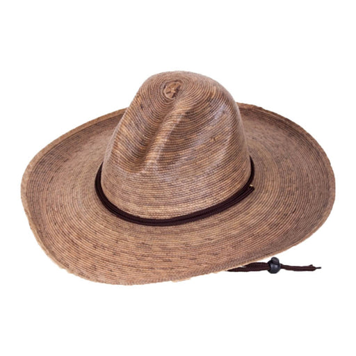 Pecos Burnt Palm Leaf Safari Hat with Chin Strap, 2XL - Tula Hats