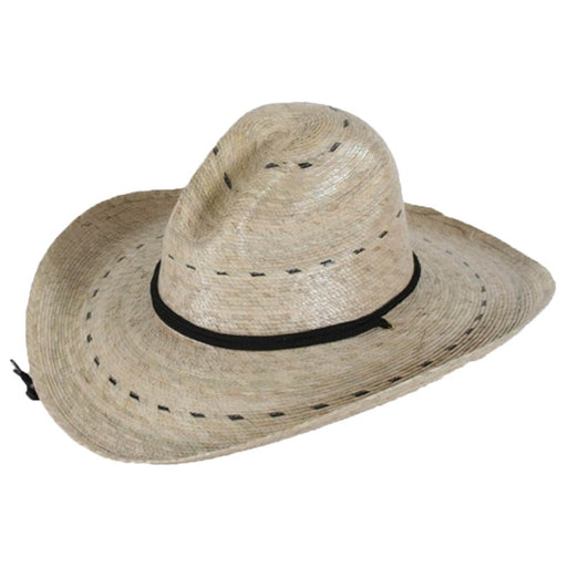 Pecos Palm Leaf Safari Hat with Chin Strap, 2XL - Tula Hats