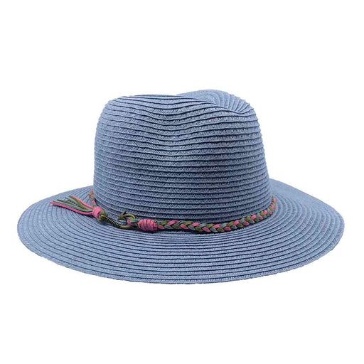 Periwinkle Safari Hat with Suede Tie - John Callanan