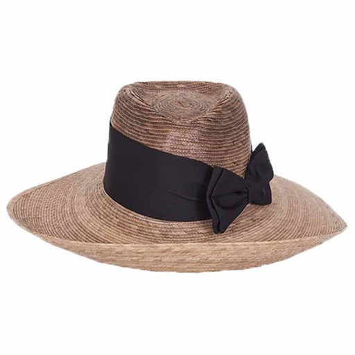 Pilar palm leaf fedora safari women hat up turned brim tula hats